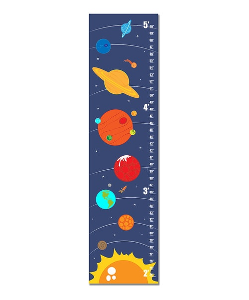 Both a darling decorating piece and functional growth chart, this playful piece of décor lends a bit of color and dash of whimsy to any room. It features metal grommets for hanging and rolls up for easily storage and safe keeping once the kids are grown.10'' W x 39'' HCanvas / metalMade in the USA