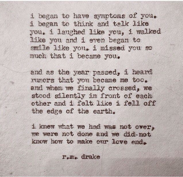 Soulmate Quotes :   QUOTATION – Image :    As the quote says – Description  RM drake    - #Soulmate