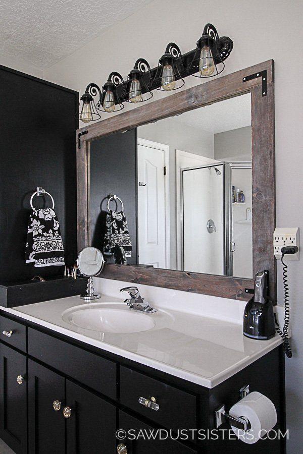 Diy Stick On Mirror Frame Diy Mirror Frame Bathroom Simple