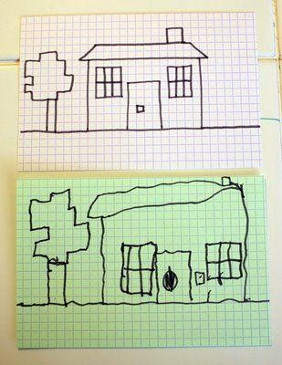 Grid copying drawings