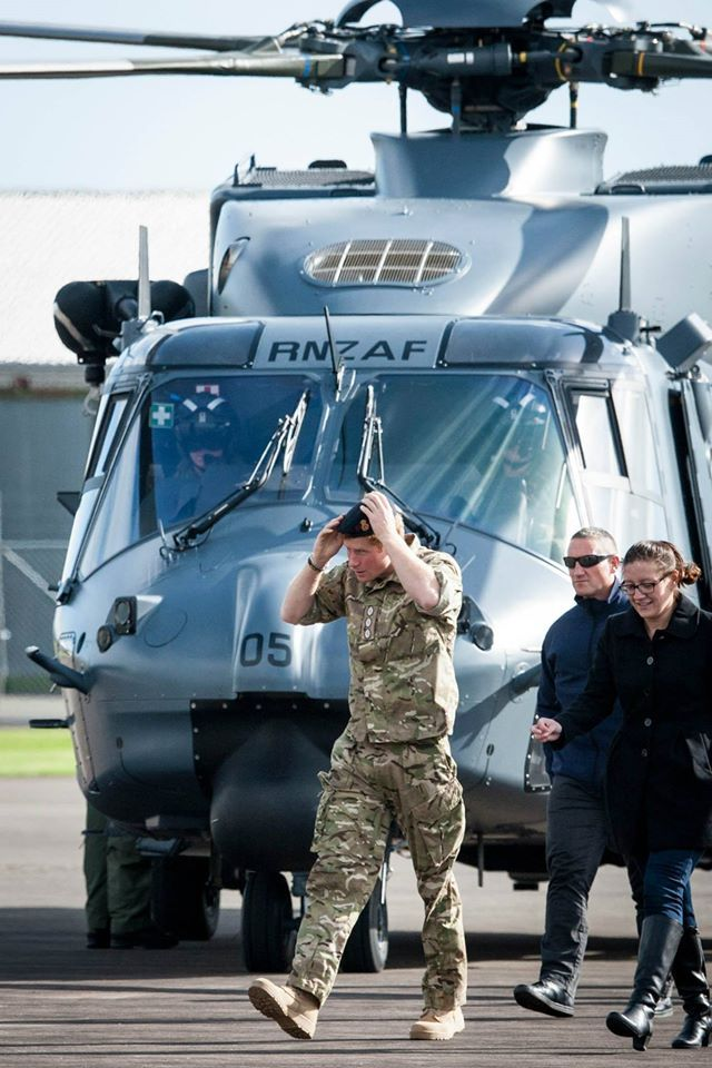 His Royal Highness Prince Henry of Wales (HRH Prince Harry) visit to Linton Military Camp. At Linton HRH arrived by the RNZAF NH90 Helicopter, drove an ATV, helped to lift a hangi, learnt the New Zealand Army Haka, meet a number of personnel and their families and participated in a game of touch rugby with pupils from Linton School.