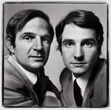 1971 - François Truffaut - French Film Director - Jean-Pierre Leaud - French Actor - By Richard Avedon.
