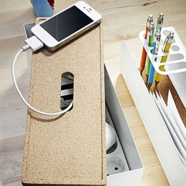 Adopter la boîte range-câbles IKEA pour dissimuler les fils électriques - Marie Claire Maison