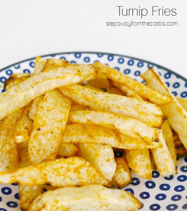Turnip Fries - a low carb alternative to potato