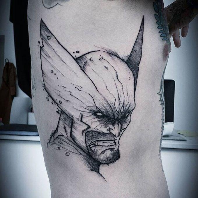 best 25 wolverine tattoo ideas on pinterest batman painting wolverine art and wolverine. Black Bedroom Furniture Sets. Home Design Ideas