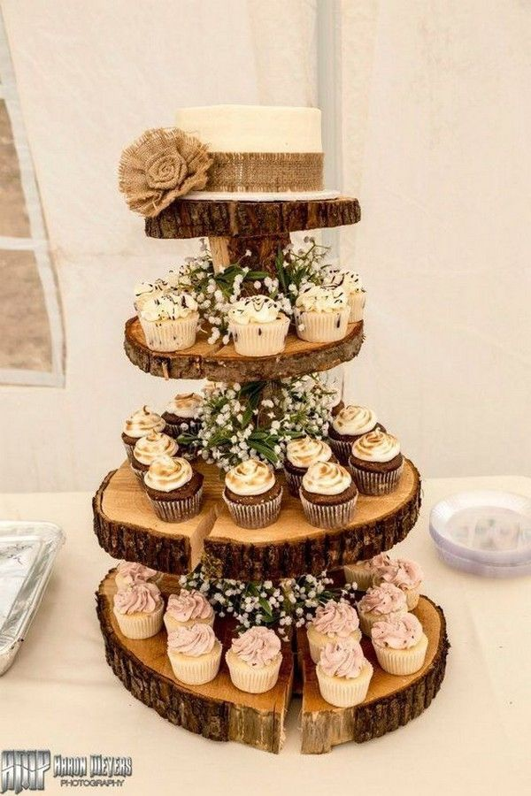 15 Mouthwatering Wedding Cakes With Cupcakes Cupcake Inspiration Wedding Cake Rustic Rustic Cupcakes Wedding Cakes With Cupcakes