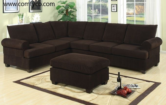 1000 images about sectional on pinterest for Brown corduroy couch