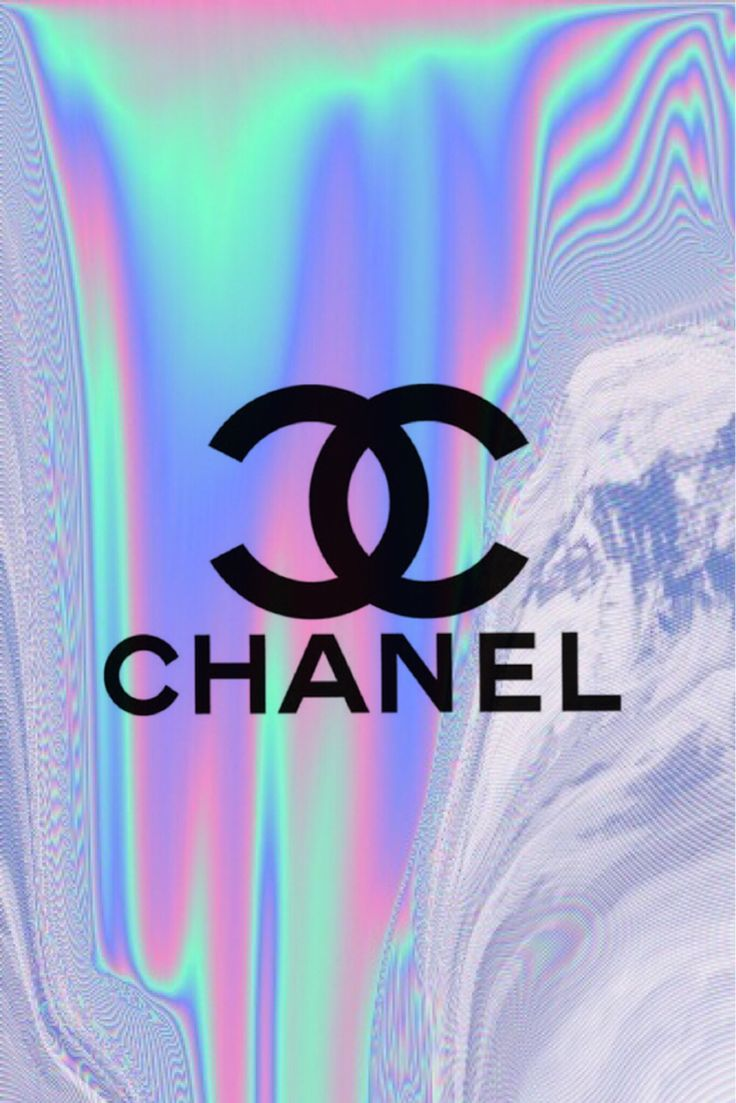 Chanel holographic iphone wallpaper