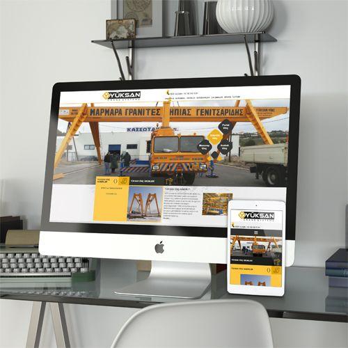 Yüksan Vinç - Website Tasarımı - Website Design - Industrial Website Design