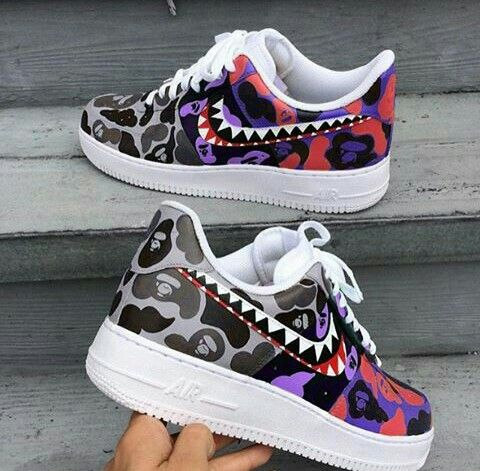 "NIKE (Air Force 1) 3 Tone ""Bape"""