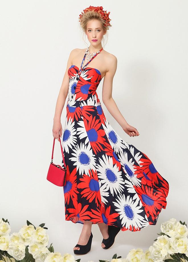 Yırtmach Çiçek desenli elbise Markafoni'de 90,00 TL yerine 39,99 TL! Satın almak için: http://www.markafoni.com/product/3536427/