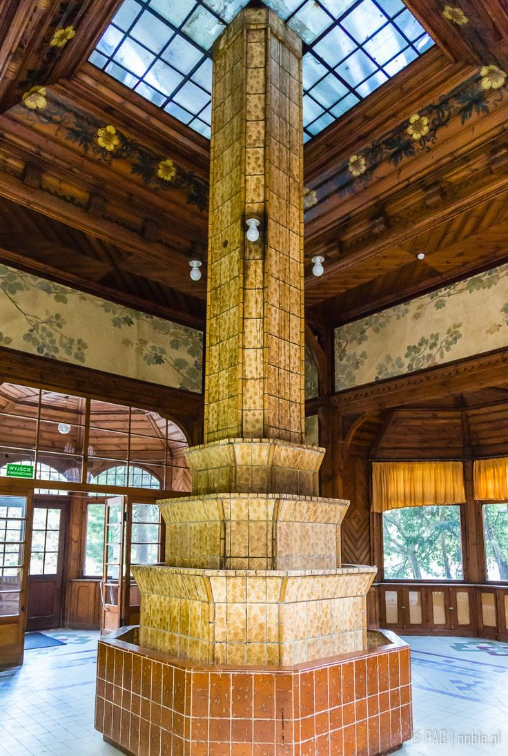 Interiors of the spa house (Kurhaus) in Swieradow-Zdroj (Bad Flinsberg), Poland