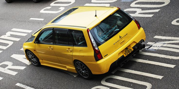 Mitsubishi Lancer Wagon - Yellow Car