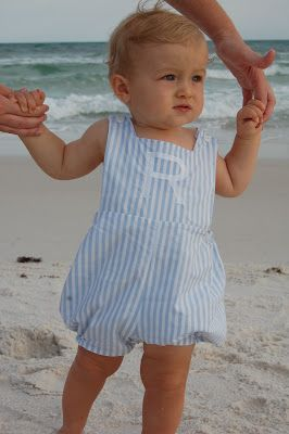 Beach baby outfit!     See this new smocking/sewing blog for pattern details!