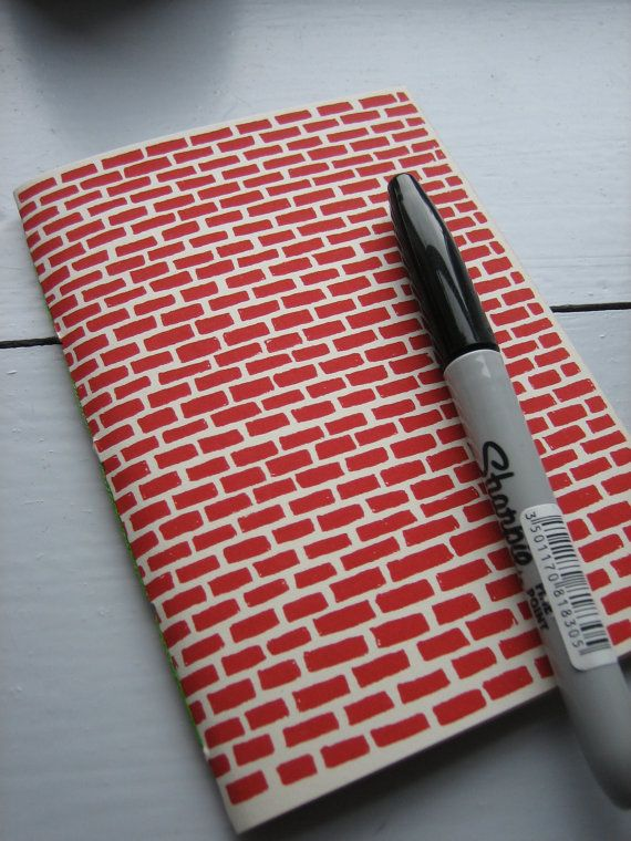 A6 Red brick notebook by LouiseSmurthwaite