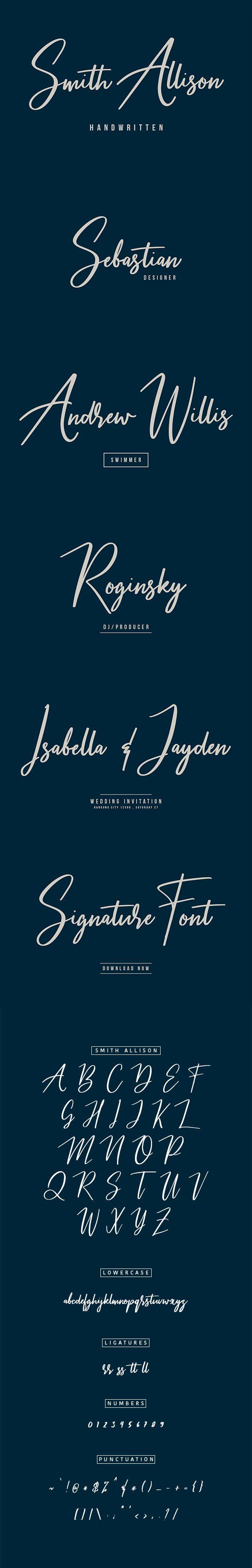 Smith Allison Signature Font - Calligraphy Script