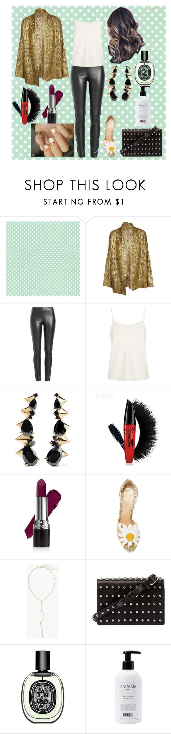 """Untitled #777"" by yasm-ina ❤ liked on Polyvore featuring CO, (nude), Joseph, The Row, Noir Jewelry, Avon, Charlotte Olympia, Chico's, Alexander Wang and Diptyque"