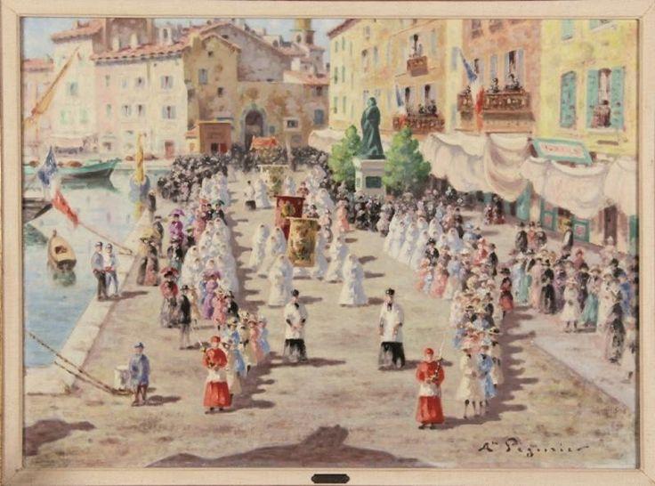 """Auguste Pégurier, le précurseur : Surnommé """"le premier peintre de Saint-Tropez"""", il a aimé saisir des moments d'éternité dans des couleurs aux accords harmonieux. #art #SaintTropez"""