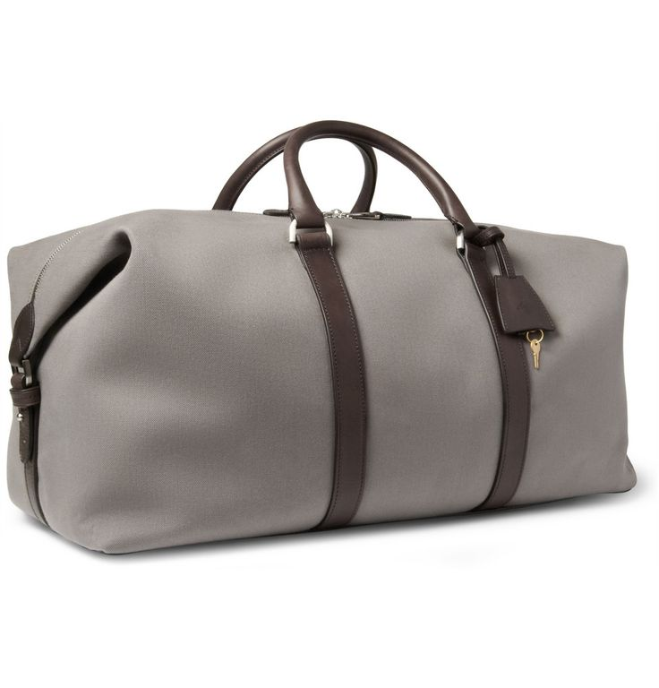 Mulberry Clipper Leather-Trimmed Canvas Holdall Bag | MR PORTER