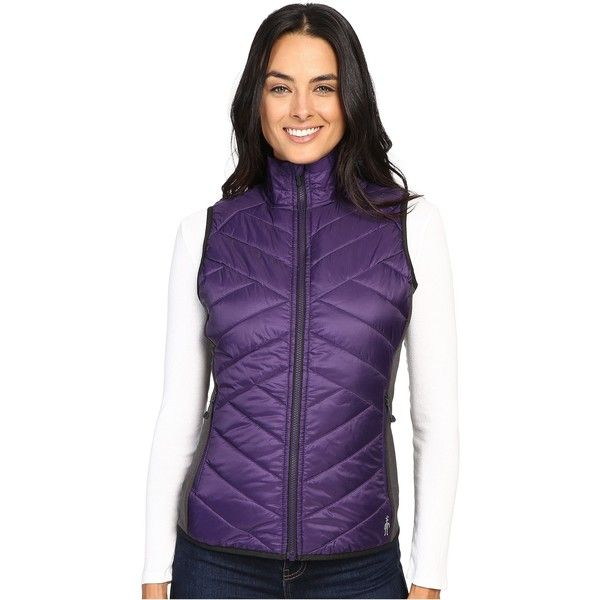 Smartwool Corbet 120 Vest (Mountain Purple) Women's Vest ($68) ❤ liked on Polyvore featuring outerwear, vests, purple, purple waistcoat, purple vest, zip vest, vest waistcoat and layered vest