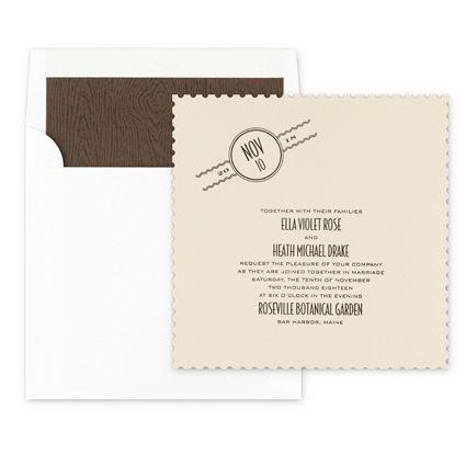 #Poste #WeddingInvitations From #Checkerboard. #Wedding #Vintage: Call Beth  Today