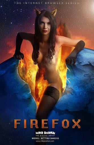 #Firefox | Девушка Firefox (Firefox Girl). © Mike Roshuk