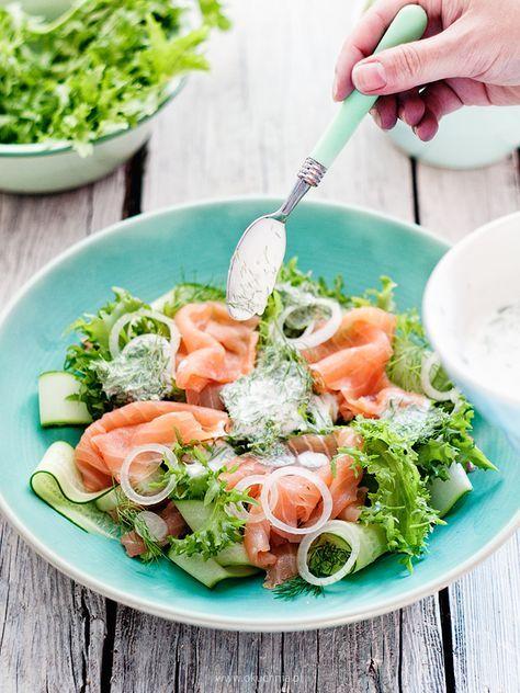 Cucumber & Smoked Salmon Salad | o!kuchnia
