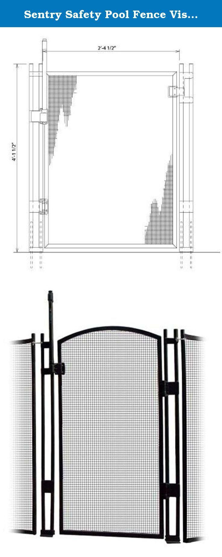 Sentry Safety Pool Fence Visiguard 5' Tall Self-closing