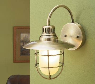 Coastal Bathroom Wall Sconces : Nautical Wall Sconce at Cabela s Bathroom Makeover Pinterest Catalog, Nautical and Sconces