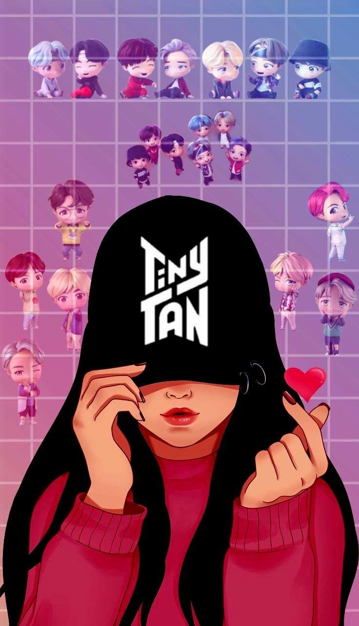 Tinytan Army Girl Bts Wallpaper Lyrics Bts Army Logo Bts Drawings Bts army wallpaper cartoon