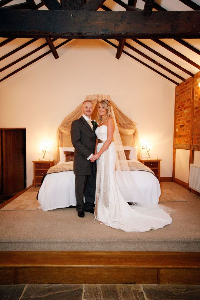 Bride and groom in the honeymoon cottage at Rivervale Barn | www.allabouttheimage.co.uk