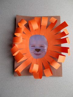 Ferociously cute lion faces using a picture of your child. Great for jungle or letter l themes.