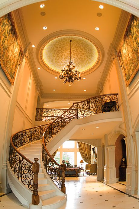 Beautiful foyer and staircase, interior design ideas and decor