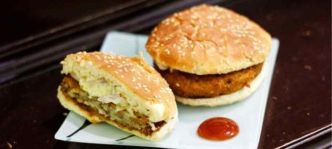 McDonald's Veggie Burger Recipe. Here is mcdonalds secret recipe to make crispy mc veggie patty at home. Burger recipes. Crispy tikki recipe like mcdonalds.