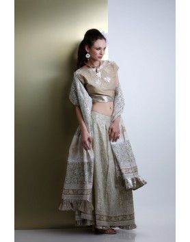 Silk chanderi lehenga set