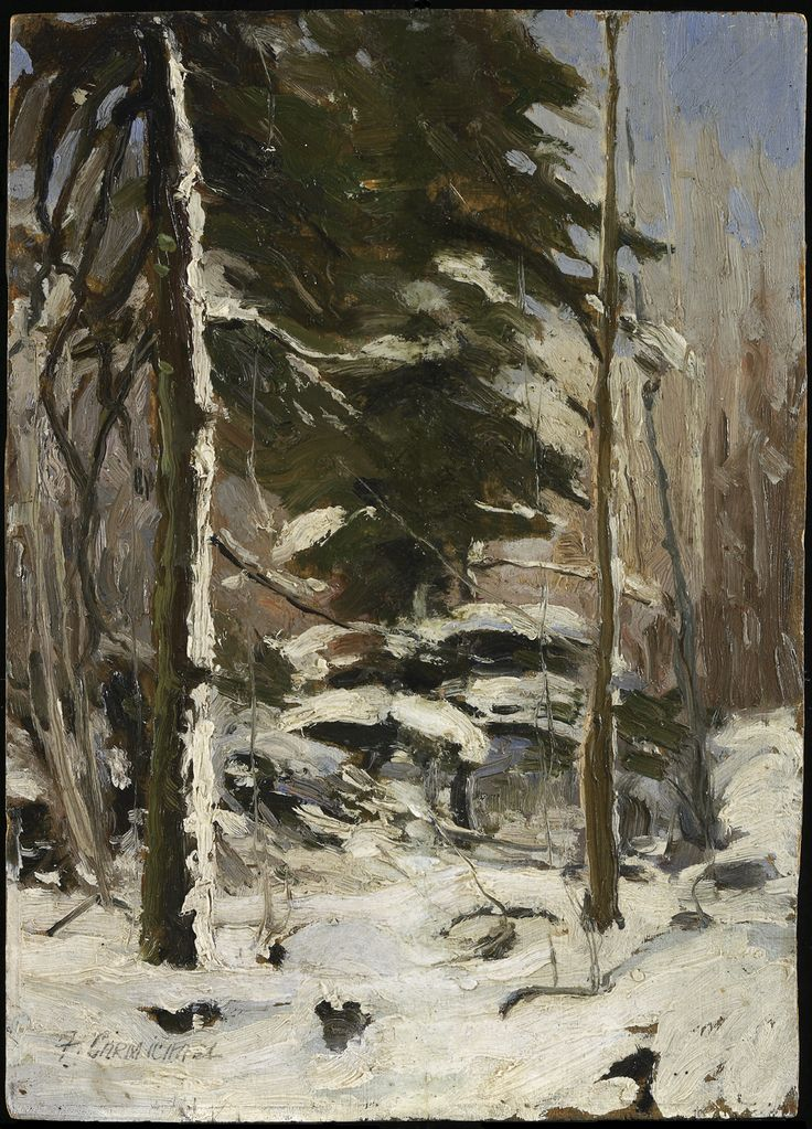 Carmichael, Franklin, Canadian, 1890 - 1945 Edge of the Wood c. 1914 oil on wood panel Overall: 21.6 x 15 cm (8 1/2 x 5 7/8 in.)