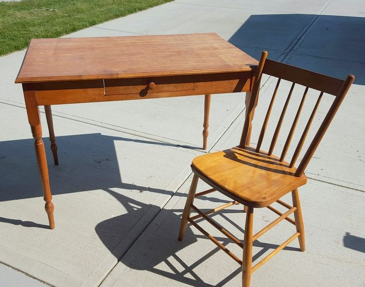 Custom Antique Postcard Table and Chair Set - I am a sucker for vintage postcards!! So when my client asked if I could re-create a custom postcard on a table se...