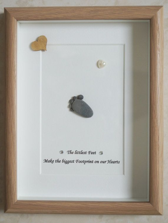 This is a beautiful small Pebble Art framed Picture of a Baby Foot - The littlest Feet make the biggest Footprint on our Hearts handmade by myself using Pebbles, Driftwood, White & Wooden Heart Size of Picture incl Frame : approx. 22cm x 17cm Thanks for looking Doris Facebook: https://facebook.com/Pebbleartbyjewlls4u Product Code: P - Red
