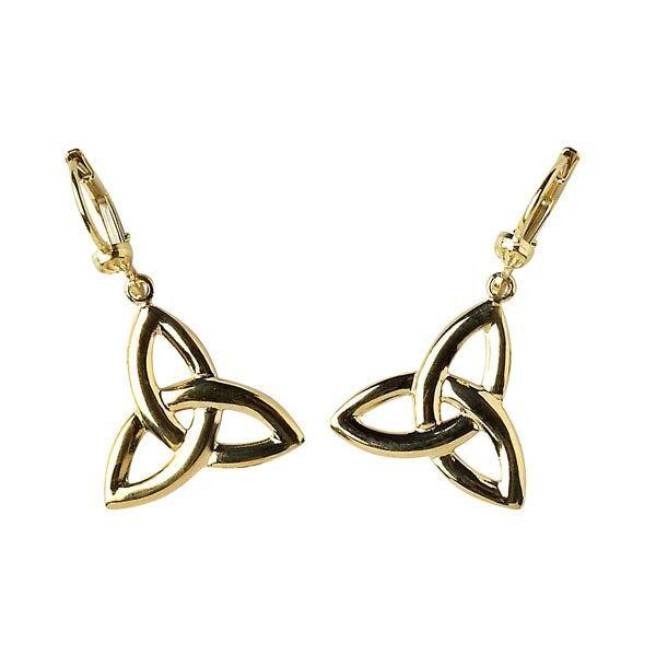 Trinity Knot Earrings - Celtic Earrings - Rings from Ireland