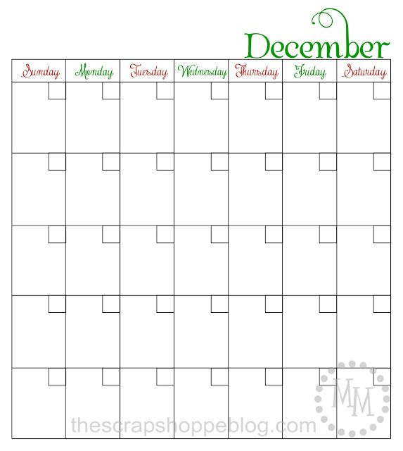 Blank printable December calendar perfect for Elf on the Shelf planning, holiday planning, or blog planning! Can reuse every year!