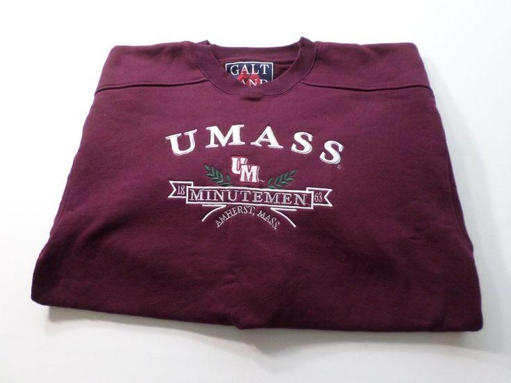 UMass Sweater Mens Size L Large Minutemen Amherst University Massachusetts  #UMASS #Crewneck