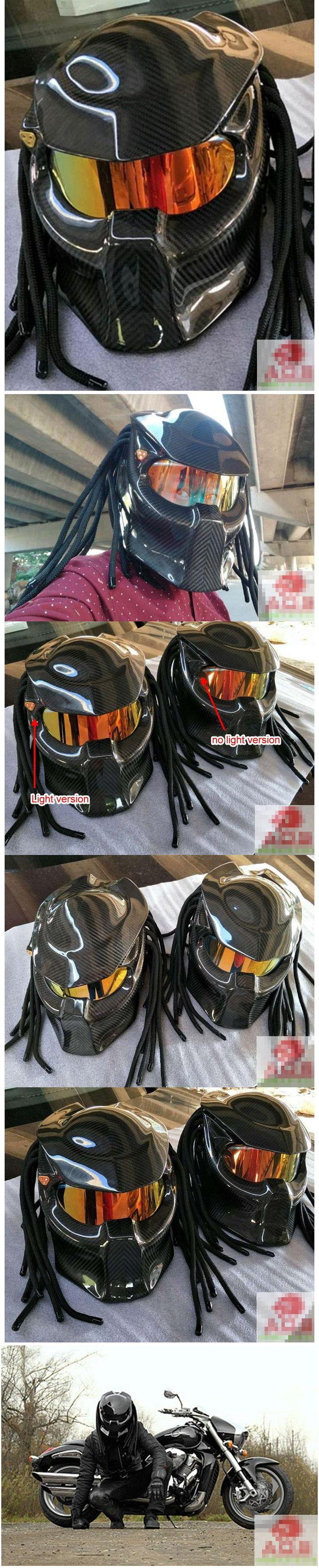 New Predator Motorcycle Full face Helmet Carbon Fibre Face