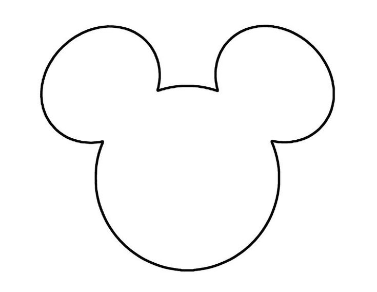 Mickey Mouse Head Template | downloaden patroon van de oren downloaden zwarte oortjes - B's 1st ...