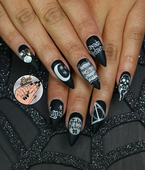 25 Times Nail Art Blew Your Mind In 2015 - including this Harry Potter inspired manicure.  via BuzzFeed