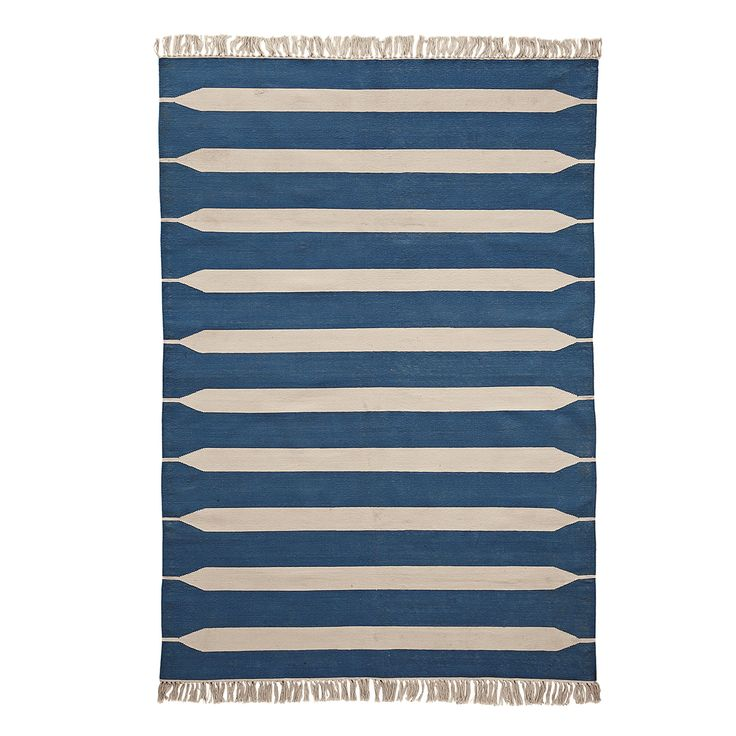 Paddle Stripe Cotton Dhurrie – Indigo | Serena & LilyRugs Pads, Stripes Dhurrie, Lilies, Hands Woven Rugs, Indigo Paddles, Stripes Cotton, Cotton Dhurrie, Paddles Stripes, Cotton Brand
