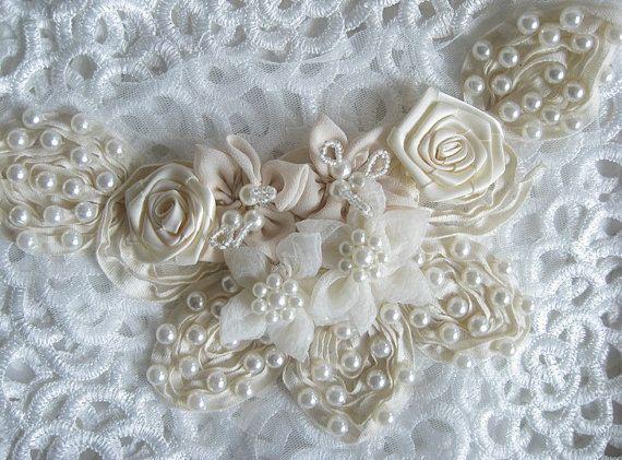 Applique da sposa avorio in vendita colletto di pizzo di Retrolace