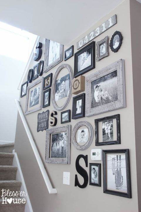 18 Inexpensive DIY Wall Decor Ideas   blesserhouse.com - So many great wall decor ideas for next to nothing!