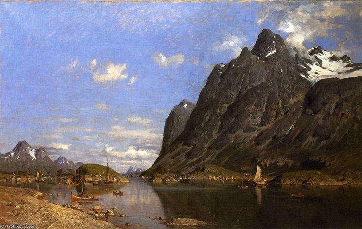 Pêche règlement dans les îles Lofoten de Adelsteen Normann (1848-1918, Norway)