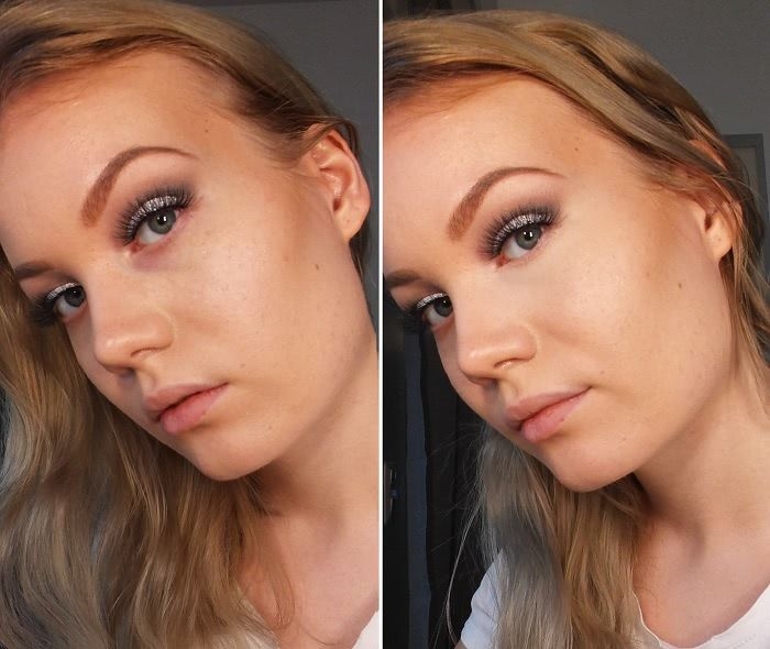 Before & After NARS Radiant Creamy Concealer in Vanilla