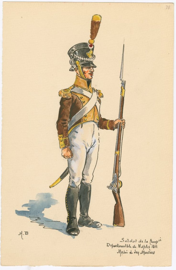 Naples; Departmental Company of Naples, Soldier, 1812, by H. Boisselier.